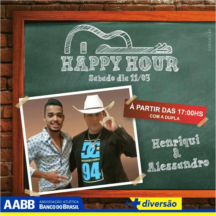 happy hour HENRIQUI E ALESSANDRO